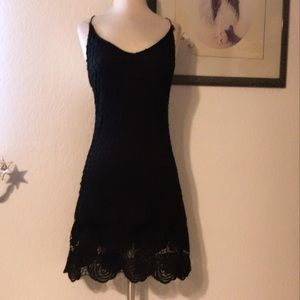 NWT! Black embroidered Dress